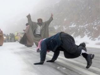 Саудовскую Аравию накрыло снегопадом