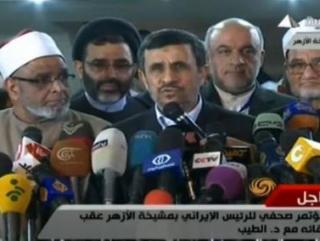 Президент Ирана поприветствовал всех сподвижников Пророка (Видео)