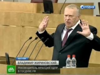 Жириновский знает, где можно разбрасывать фекалии