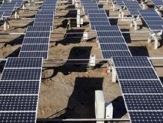 Cолнечные батареи электростанции