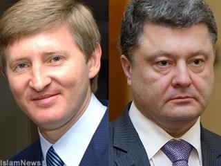 Ринат Ахметов и Петр Порошенко