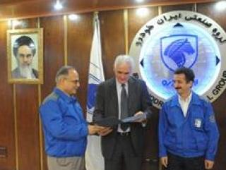 В главном офисе иранского автомобилестроительного концерна Iran Khodro