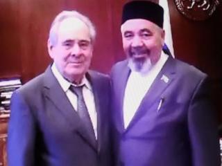 Ахун Радиф Бадретдинов с экс-президентом Татарстана