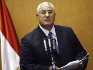 Временный президент Египта Адли Мансур