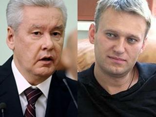 ВЦИОМ: Собянин популярнее Навального в 5 раз