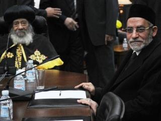 Лидер «Братьев-мусульман» на одной из встреч с главой коптской церкви Египта