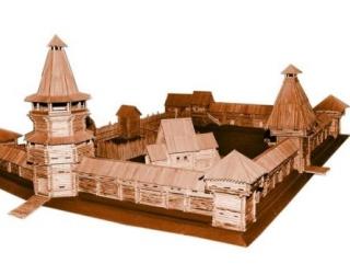 Прототипами русских городов являлись остроги