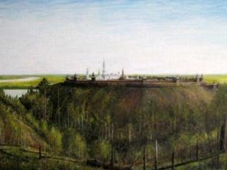 Крепость Искер, картина Хасана и Хусаина Аранугуловых