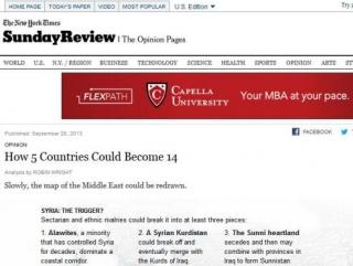 «Нью-Йорк таймc» опубликовала план раздела арабских стран