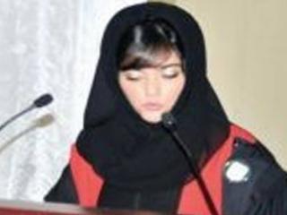 Аят Бахриба на защите диплома