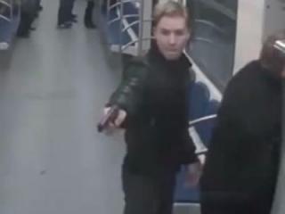 Кадр записи одной из видеокамеры московской подземки