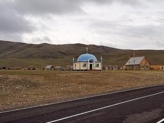 Мечеть аула Ташанта на монгольской границе, где, по версии следствия, было создано отделения запрещенной международной религиозной организации «Таблиг Джаммат».