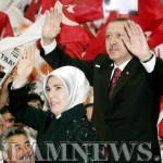 Премьер-министр Турции Реджеп Эрдоган с женой Эмине