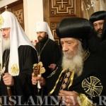 Встреча патриарха Кирилла с патриархом Коптской церкви Шенудой III. Египет, апрель 2010г.