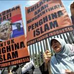 Митинг против антиисламского фильма Вилерда в Индонезии