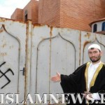 На Украине мечеть разрисовали фашистскими свастиками