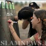 """Израильские дети подписывают смертельные """"подарки"""" для своих палестинских сверстников"""