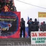 Митинг протеста против израильской блокады Газы.