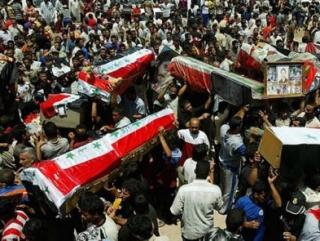 Похороны жертв террора в Ираке