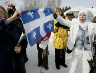 Мусульманки и правозащитники Квебека протестуют против возможного фактического запрета ношения хиджаба