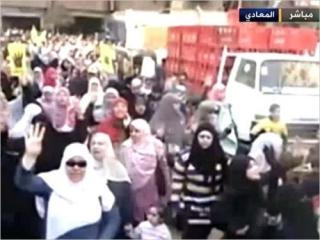 Пятничная акция в Каире. Фото: «Аль-Джазира»