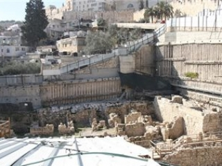 Участок раскопок у подножья аль-Аксы