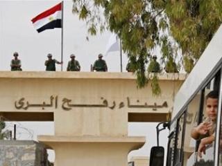 КПП  «Рафах» на границе Египта и сектора Газа