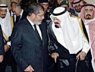 Встреча короля Саудовской Аравии Абдаллы и избранным президентом Египта Мухаммадом Мурси 2012 год