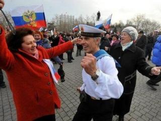 Русскоязычное население Крыма довольно выходом из состава Украины