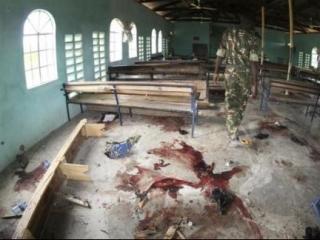 Место нападения на прихожан церкви