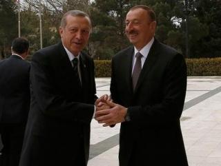 Реджеп Эрдоган и Ильхам Алиев во время встречи