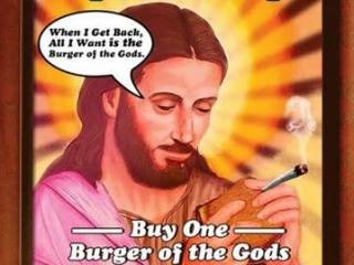 Иисус-наркоман в рекламе гамбургеров возмутил верующих