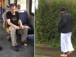 Мусульманин отдал бомжу в автобусе снятые с себя ботинки