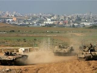 Палестинские земли под гусеницами израильских танков.