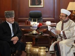 Главе мусульман Турции презентовали новый курс Путина в сфере диалога с исламом