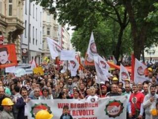 Протестная демонстрация в Кельне