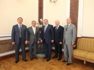 Лидеры крымских татар в казанском Кремле