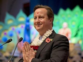 Премьер-министр Кэмерон участвует в праздновании Дивали