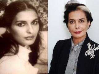 Джанан Харб в молодости и сейчас