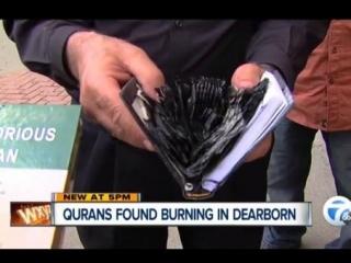 Вандалы сожгли Коран перед мечетью