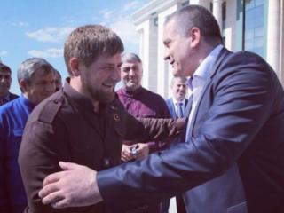 Рамзан Кадыров получил из рук Сергея Аксенова медаль «За освобождение Крыма»
