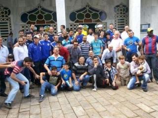 Футболисты побывали на джума во время ЧМ в Бразилии