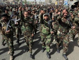 Вооружаются активисты Иракского исламского национального сопротивления, Исламской армии Ирака, Суннитской армии моджахедов