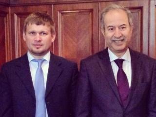 Слева направо: Александр Жданов и Абделкадер Лешхеб