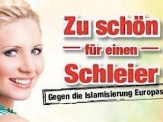 Австрийские правые  распространяют исламофобский постер
