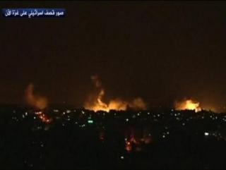 Массированный артобстрел Газы