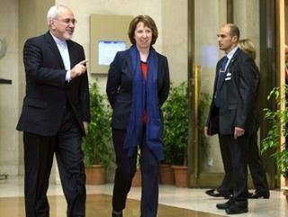 Кэтрин Эштон и Мохаммад Джавад Зариф на переговорах по ядерной программе