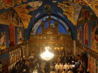 Церковь Св. Порфирия в Газе. Внутренний вид.