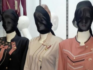 Строители «халифата» надели на манекены паранджу