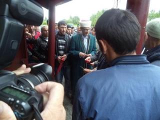 Церемония откртия мечети